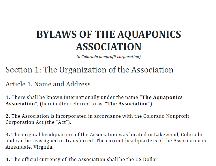 bylaws screenshot